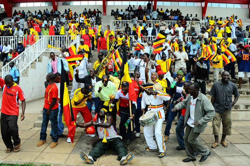 Ugandan fans at Nyayo during CHAN game