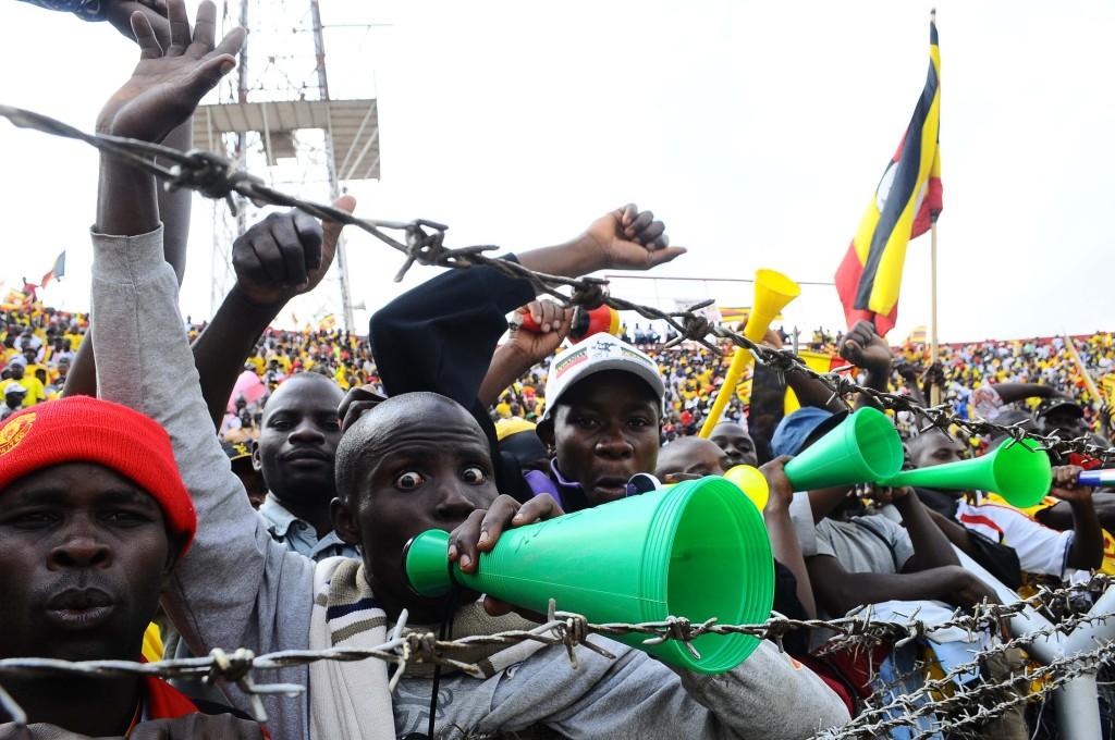 Ugandan fans gave it all