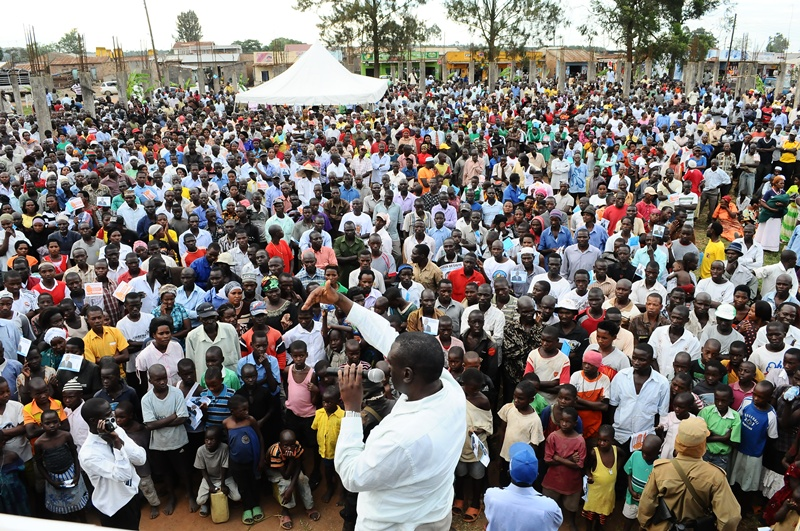 Kiiza Besigye was not disappointed with the turn up in Lukaya for his campaign