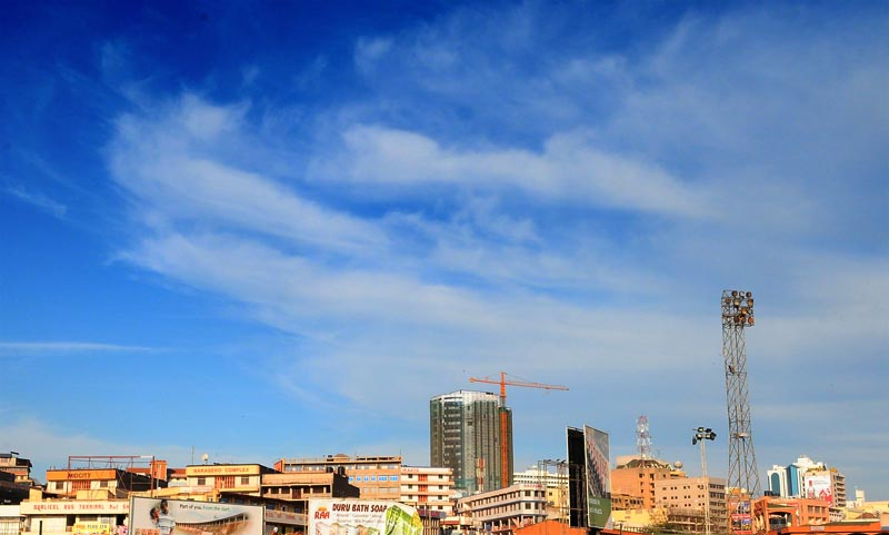 Kampala skyline from downtown
