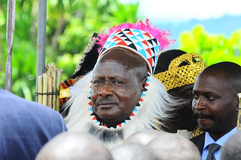 President Museveni in traditional Toro attire