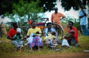 Mothers listen to Kizza Besigye at a rally in Kaberamaido
