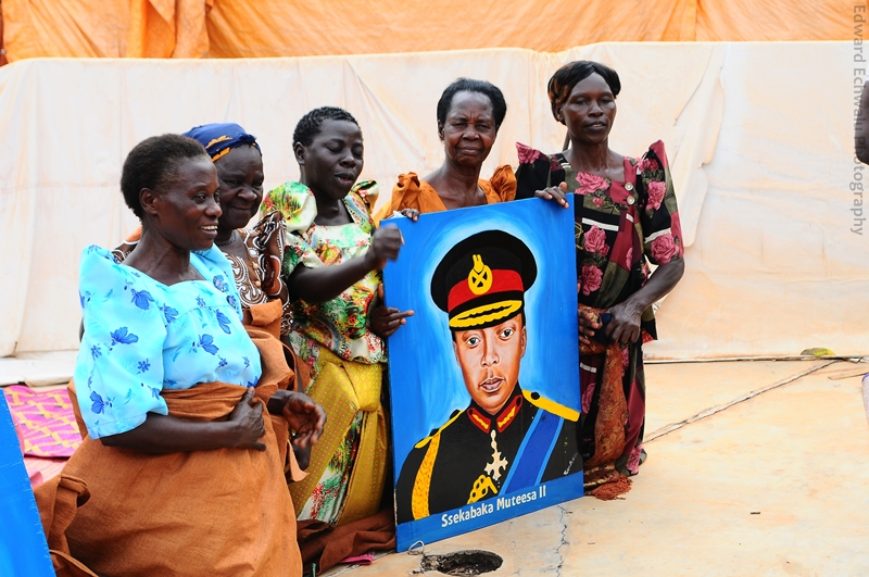A portrait of Edward Mutesa II, one of the kings buried at the Kasubi tomb is displayed moments before the reconstruction work was commissioned.