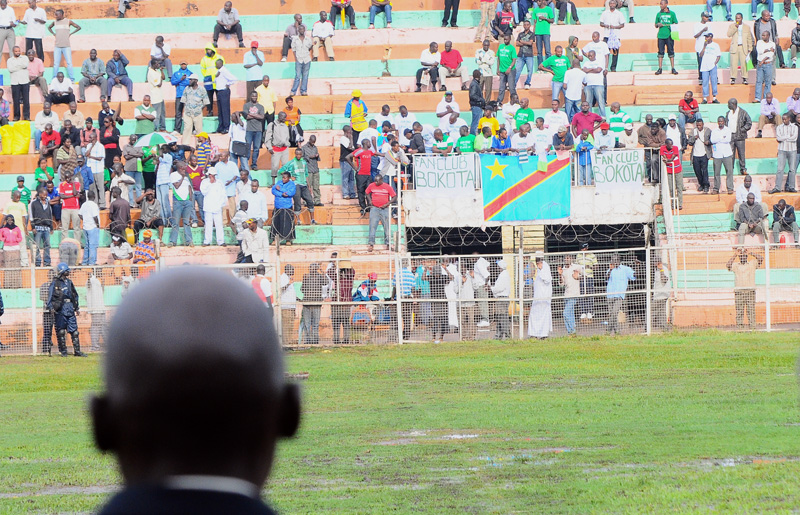 George Nsimbe, Victor FC's coach could do nothing about the pitch and only stared at his fans