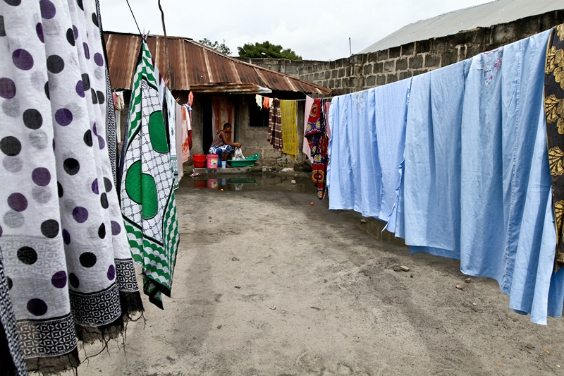 Doing laundry in Ngeta suburb of Dar es salaam
