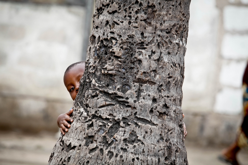 Hide and seek in Dar es salaam suburb