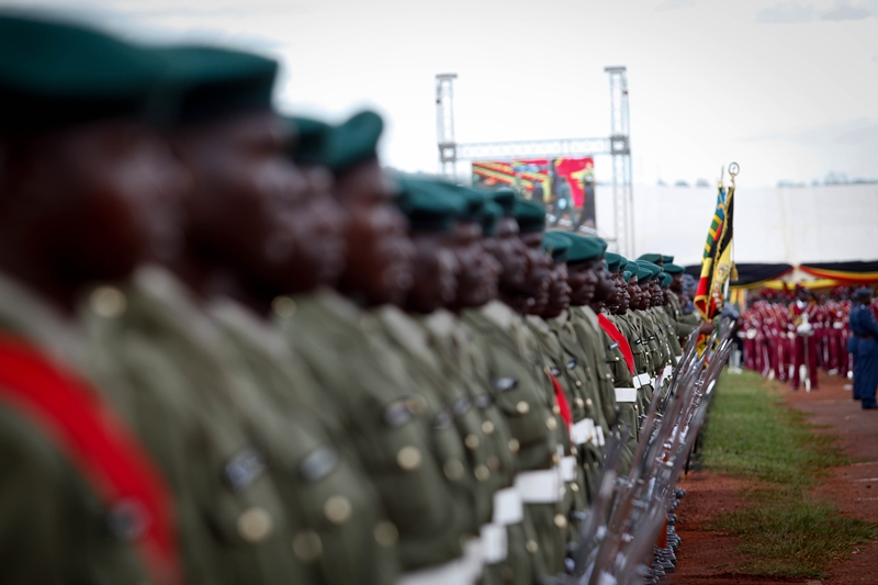 The parade as seen during the swearing in ceremony of president Yoweri Museveni at Kololo Airstrip on May 12, 2011
