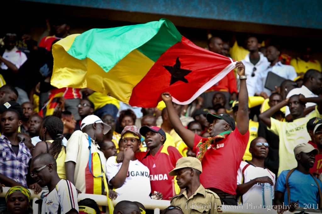 Amongst the 60.000 plus crowd was this lone Guinea Bissau fan in the VIP who waved the Guinea flag, shouted his voice horse and jumped endlessly. His team eventually lost the match 2-0 but it was such a remarkable effort by him. With 10 points gathered so far, it literally means Uganda needs a point in their two remaining fixtures against Angola (September 3) and Kenya (October 8) to qualify for the finals for the first time since 1978