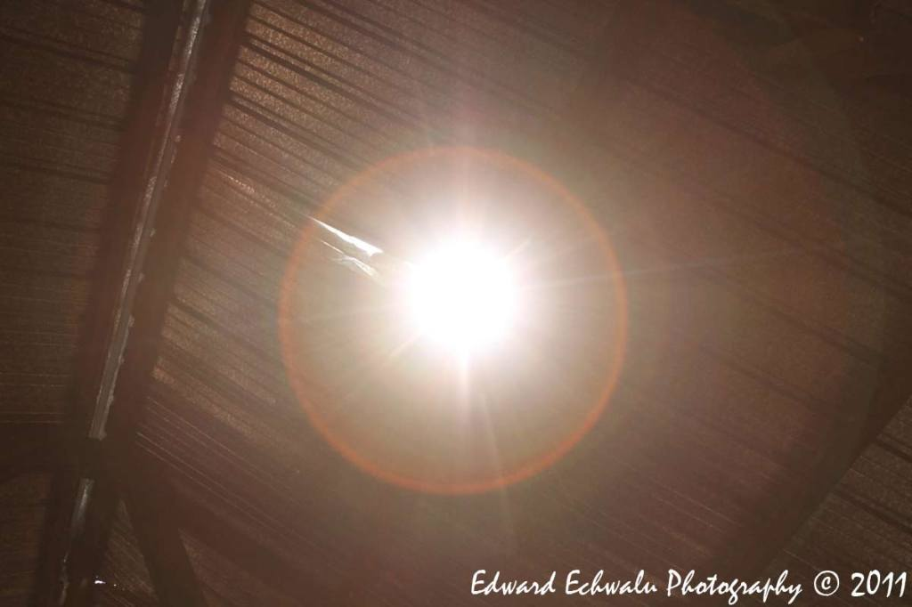The sun pierces through a hole on the roof of one of the classrooms hit by a lightning bolt. Its believed, the hole was created as the lightning retreated back into the skies. The strike killed 18 children and their teacher in Kiryandongo, Uganda. The East African country one of the highest rates of lightning strike deaths in the world and its capital Kampala has more days of lightning per year than any other city, according to the World Meteorological Organization.