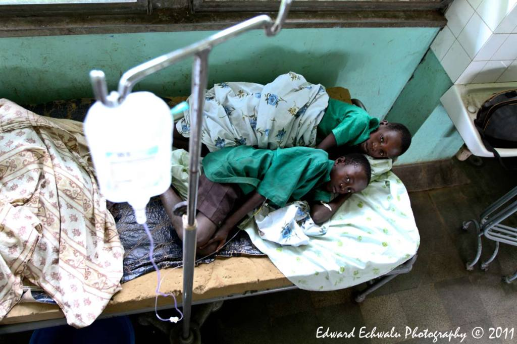 Schoolchildren who survived after lightning struck their classroom, receive treatment at Kiryandongo hospital, 210 km (130 miles) north of Uganda's capital Kampala, June 29, 2011. The lightning strike killed 18 children and their teacher in Kiryandongo, Uganda. The East African Country has one of the highest rates of lightning strike deaths in the world and its capital Kampala has more days of lightning per year than any other city, according to the World Meteorological Organization.