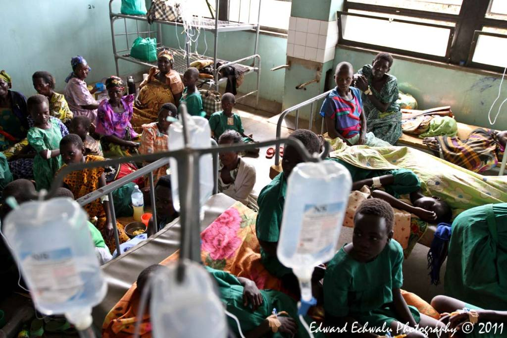 Schoolchildren who survived after lightning struck their classroom, receive treatment at Kiryandongo hospital, 210 km (130 miles) north of Uganda's capital Kampala, June 29, 2011. The lightning strike killed 18 children and their teacher in Uganda, police said. Uganda has one of the highest rates of lightning strike deaths in the world and its capital Kampala has more days of lightning per year than any other city, according to the World Meteorological Organization.