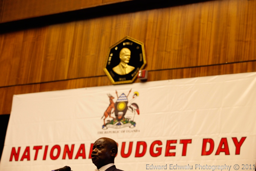 Uganda's president Yoweri Kaguta Museveni makes his remarks at the presentation of the country's budget for the 2011/2012 financial year at the Serena Hotel in Kampala, Uganda's capital on June 8, 2011. Uganda's Finance Ministry cut its growth forecast for the 2010-11 fiscal year to 6.3 percent following a slump in the production of cash crops because of poor rains.