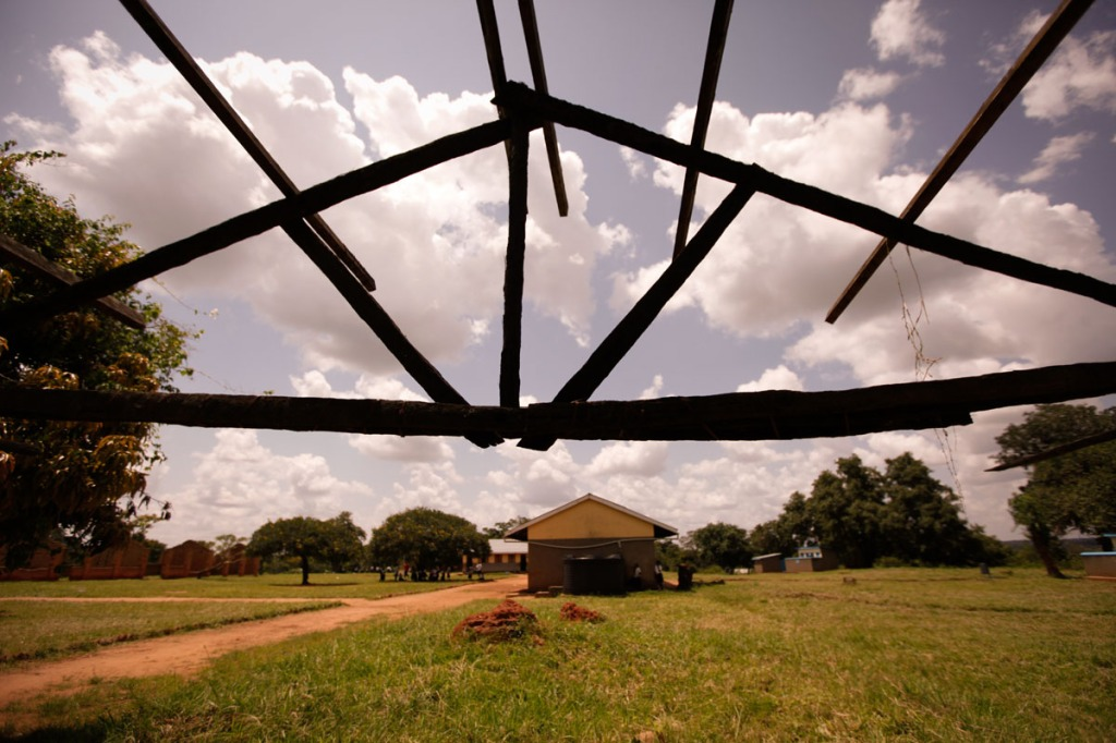 Scars of the 20-year LRA war are still visibly in Awere Primary School seen from this abandoned classroom. Awere Primary school, located 80km northeast of Gulu town started the project of hand making sanitary pads to keep girls at school.
