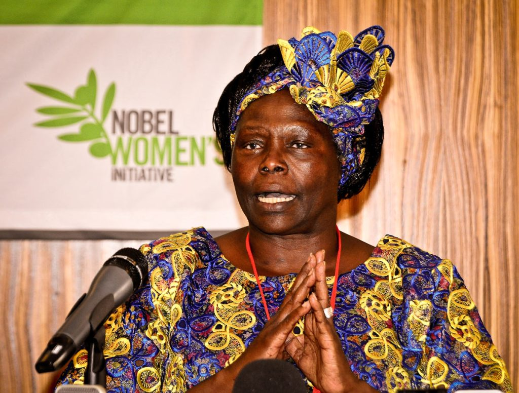 WANGARI MAATHAI –RIP: This is the last image I ever captured of Wangari Maathai at the Serena Hotel, Kampala on 6/4/2010 before she passed on at the Nairobi Hospital with Cancer on September 25, 2011. I remember her speaking with such authority alongside two other women laureates. It was a press conference organized by the Nobel Women Initiative to magnify the power and visibility of women working in countries around the world for peace, justice and equality.