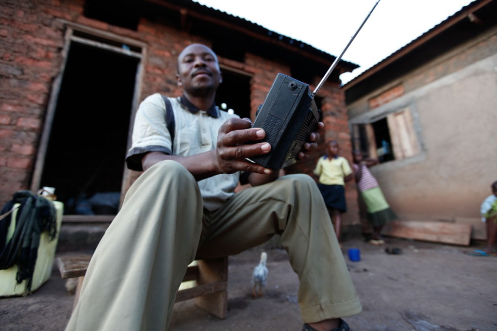 Ivan listens to radio a lot. Whenever he's not occupied with something, Ivan listens to his radio. He's among the small scale farmers benefitting from the Swedish Cooperative Centre.